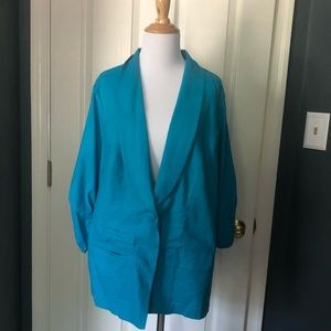 Torrid  Turquoise single button Blazer